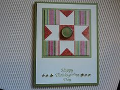 Card Corner by Candee: Quilted cards