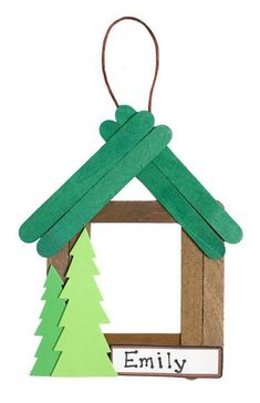 Cabin Photo Frame (pkg of - Camp Moose on the Loose VBS Back Product Description Campers put together self-adhesive foam pieces, prepainted wooden craft sticks, and string to make a souvenir frame for their photos. Prepackaged for individual use. Christmas Crafts For Kids, Christmas Activities, Summer Crafts, Kids Christmas, Holiday Crafts, Christmas Ornaments, Christmas Truck, Simple Christmas, Popsicle Crafts