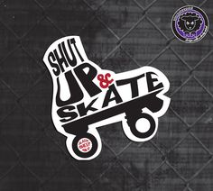 """Roller Derby Sticker PACK """"Red & Rude"""" Pack by Lucy Dynamite of Black Sheep Sk8."""