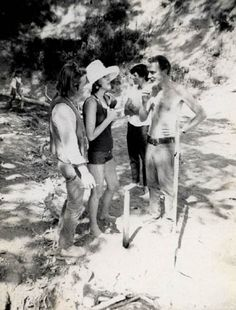 Jack Boyce, Joanne Kyger & Lew Welch in Bolinas, 1969.    In 1969 poet Ed Sanders dubbed Bolinas ''a psychedelic Peyton Place''.