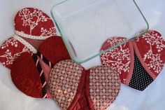 Heart shaped oven mitts