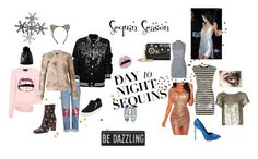"""day to night sequin"" by mirnag16 on Polyvore featuring Markus Lupfer, Dolce&Gabbana, Harrods, Ash, Betsey Johnson, Yves Saint Laurent, Cara, Valentino, Alice + Olivia and NIGHTMARKET"