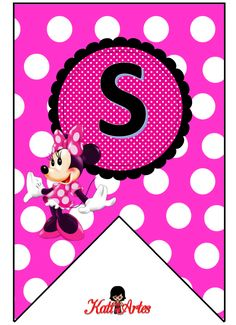 fonts - lots of themes Minnie Mouse Clubhouse, Minnie Mouse Party, Minnie Birthday, Happy Birthday Banners, Printable Banner, Alphabet And Numbers, Alphabet Letters, Mickey Minnie Mouse, Diy And Crafts