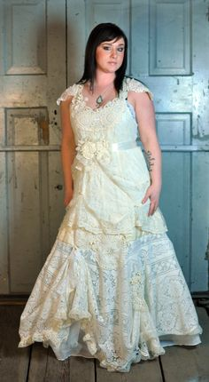 upcycled wedding gown