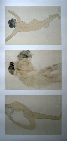 Auguste Rodin, Triptyque : Danseuse, le baiser, nue de dos, 1905