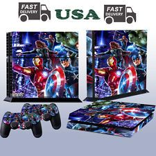 Avenger Game Decal Cover Skin Sticker For PS4 PlayStation 4 Console 2 Controller