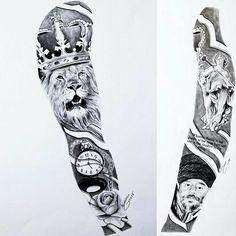 Bocetos Tatuajes Brazo tatuajes para todo el brazo completo tribales en hombres   tatuajes