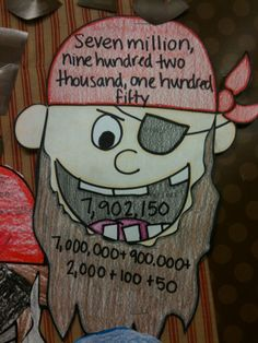 Tales of Frogs and Cupcakes: Pirate Place Value Bulletin Board