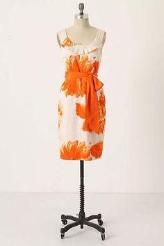 Anthropologie Moulinette Soeurs Orange Blossom Open Back Belted Dress 4 $138 | eBay