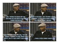 Stealing Candy With Dave Chappelle - My baby is stealing candy...I still love him:-)