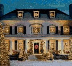 Love these outdoor Christmas lights! traditional home exterior