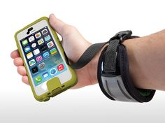 Great tech gear for camping and hiking: Lifedge protective smartphone case and Float wrist strap