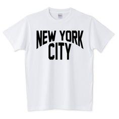 NEW YORK CITY /ロゴ・ニューヨーク・ストリート・ロック・rock・music・音楽・イラスト・アメカジ・カレッジ・ヒップホップ・art・アート・可愛い・絵・文字・デザインTシャツ | デザインTシャツ通販 T-SHIRTS TRINITY(Tシャツトリニティ)