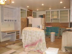 Last summer, we decided to paint our kitchen cabinets which led to painting and re-building our entertainment center , painting our bui...