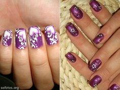 Unhas decoradas violeta