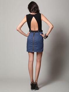 charlotte ronson open back belted dress
