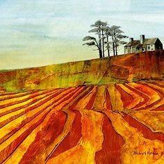 Limited edition prints from West Country artist Michael Morgan. Widest online selection of mounted prints by watercolour artist Michael Morgan. Watercolor Landscape, Abstract Landscape, Landscape Paintings, Watercolor Art, Abstract Art, Michael Morgan, Art Society, Contemporary Landscape, Matisse