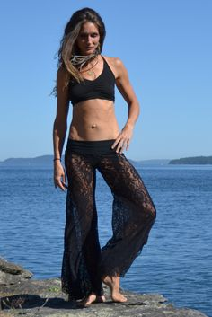 Lace Butterfly Pants