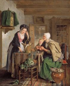 Adriaan de Lelie Returning from the Market 1795