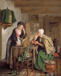 Adriaan de Lelie  Returning from the Market  1795