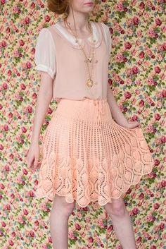 This crochet skirt is stunning. Pineapple Skirt