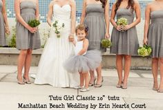 Tutu flowergirl ~ have her wear white with the same color tutu as the girls dresses
