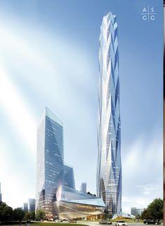 Greenland Tower Chengdu: une tour de 468 m pour la Chine en 2018