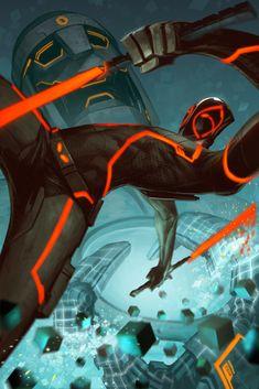 Deadpool Tron Variant by Jimmy Xu