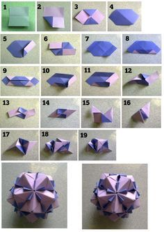 Units: 30 Paper: cm Final height: ~ 8 cm Joint: no glue (paper balls origami) Origami Design, Diy Origami, Origami Star Box, Origami And Kirigami, Origami Ball, Origami Folding, Paper Crafts Origami, Oragami, Origami Instructions