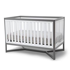"Delta Tribeca 4 in 1 Crib-White and Gray - Delta - Babies ""R"" Us, $299"