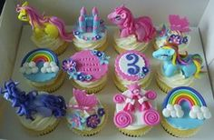 Adorable My Little Pony Cupcakes :D