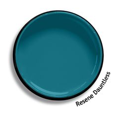 Resene Dauntless is a soft edged blue teal and peacock intermix, bright and… Best Paint Colors, Paint Colours, Outside House Paint, Resene Colours, Colored Ceiling, Ceiling Color, Bathroom Colors, Bedroom Colours, 70s Decor