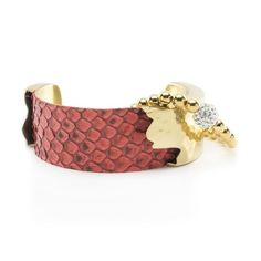 Suede Python Duo - Coral with Gold