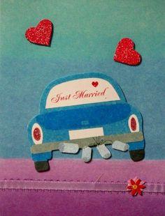 Scrapbookfare Wedding Handmade Dimensional Greeting Card