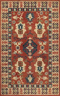 Starting at $59 - Momeni Tangier Red TAN 3 Traditional Area Rugs - http://www.boldrugs.com/Momeni-Tangier-Red-TAN-3-rugs.html