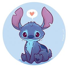 Stitch as requested 😊💕💕 slowly coming to the realisation that there are lots of cute Disney sidekicks (though Stitch isn't really a sidekick but I'm counting him😉💕) Edit: Prints and stickers up on my etsy (link in bio! Cute Kawaii Drawings, Cute Animal Drawings, Drawing Animals, Drawing Cartoon Characters, Character Drawing, Kawaii Chibi, Kawaii Art, Disney Sidekicks, Disney Characters
