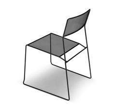 Log mesh chair, Metal chair, stackable and easy to transport, suitable for outdoor use