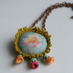 "LOUISE LOVELL-  ""I design and make textile based jewellery with a strong emphasis on colour and texture"""