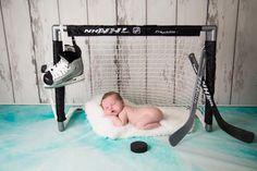 Photo credits::    PHOTOGRAPHY BY ADAM  http://sudburyphotographer.com  Newborn Hockey