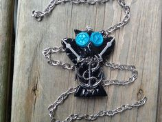 Anchor Steampunk Owl Pendant with Chain on Etsy, $13.99 CAD