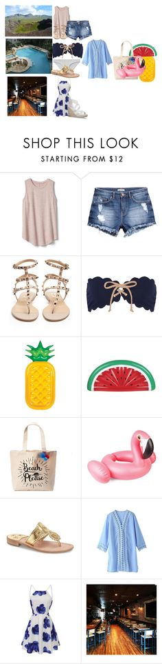 """""""Day 5"""" by anderson-family001 ❤ liked on Polyvore featuring Gap, H&M, Valentino, Marysia Swim, Sunnylife, Tri-coastal Design and Jack Rogers"""