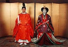 Their Majesties The Emperor (Akihito) and Empress (Michiko)  at their wedding in 1959.