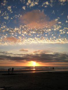 Sunset at San Elijo state beach, Encinitas, CA