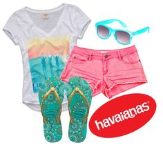 """""""Create #instantjoy with Havaianas"""" by mrshoranieber ❤ liked on Polyvore"""