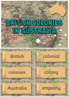 British Colonies in Australia – History Word Wall Vocabulary