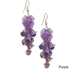 Bleek2Sheek Vine-ology Edition Long Honey Bell Crystal Vine Earrings