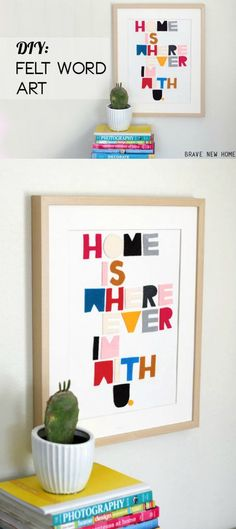 If you have favorite song lyrics, this easy felt craft allows you to display them on your wall - a very unique home decor project!