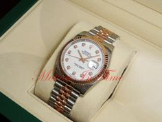 Rolex Datejust 36mm Stainless Steel and Rose Gold Jubilee Bracelet Fluted 116231 #Rolex
