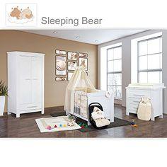 Babyzimmer Weiss, Komplett Babyzimmer, Jugendzimmer Set, Möbel Kinderzimmer,  Textilien, Grau,