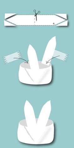 Bastelvorlage Origami Osterhasen Korb - Schritt 4